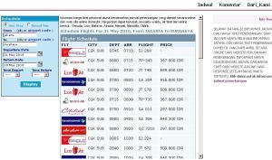 Jadwal Harga Tiket Penerbangan